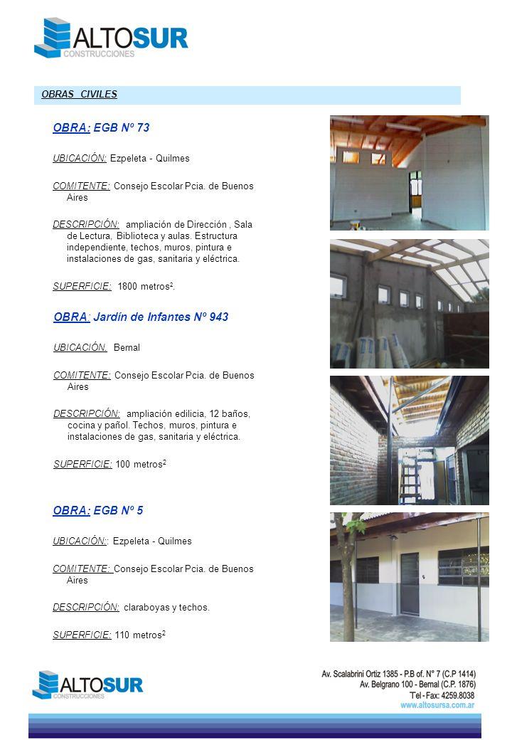 OBRA: Jardín de Infantes Nº 943