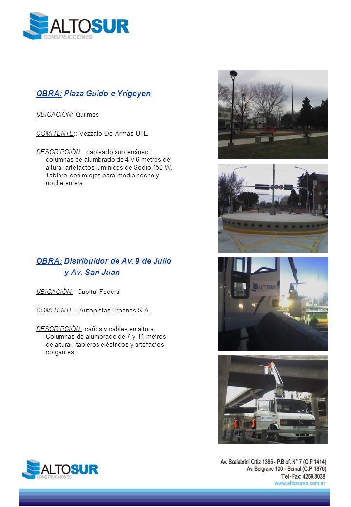 OBRA: Plaza Guido e Yrigoyen