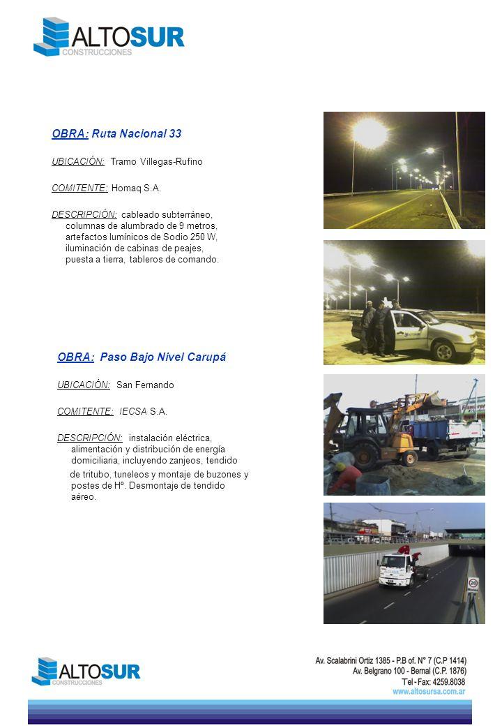 OBRA: Paso Bajo Nivel Carupá