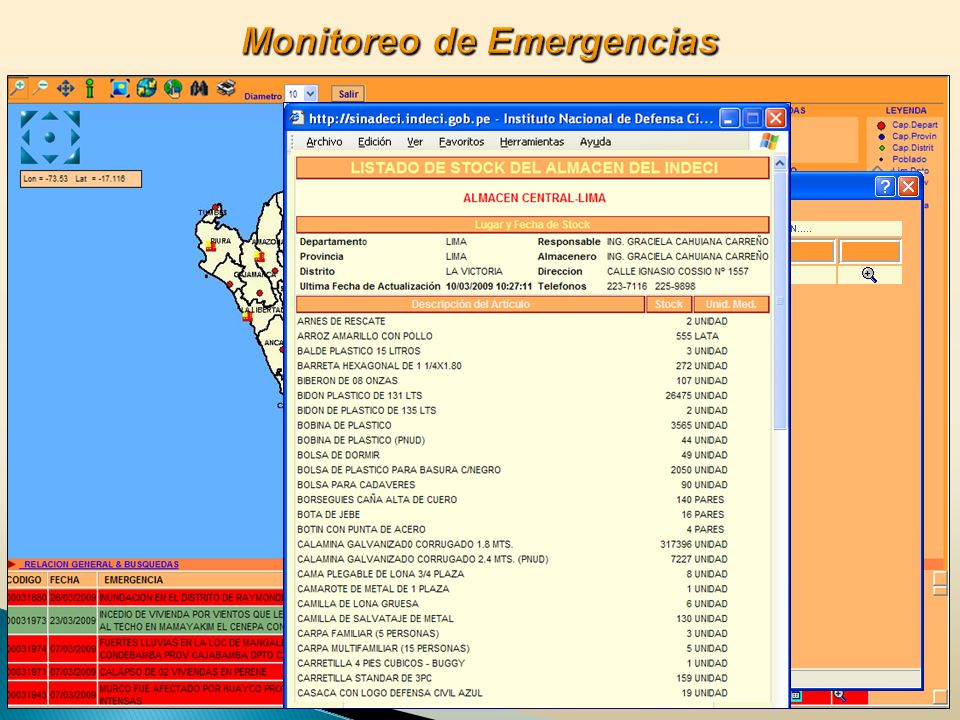 Monitoreo de Emergencias