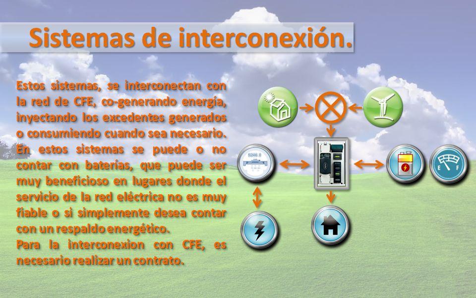 Sistemas de interconexión.