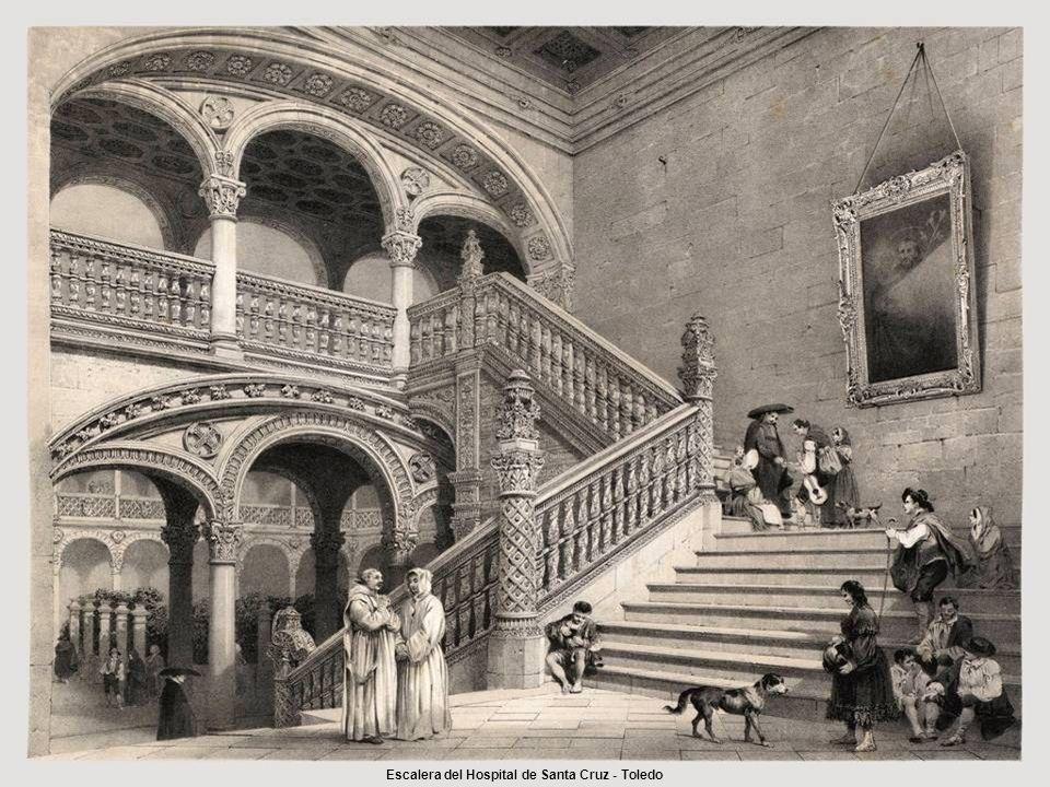 Escalera del Hospital de Santa Cruz - Toledo