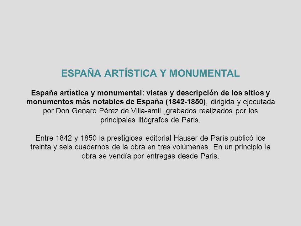 ESPAÑA ARTÍSTICA Y MONUMENTAL