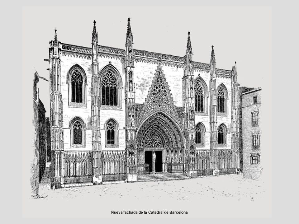 Nueva fachada de la Catedral de Barcelona
