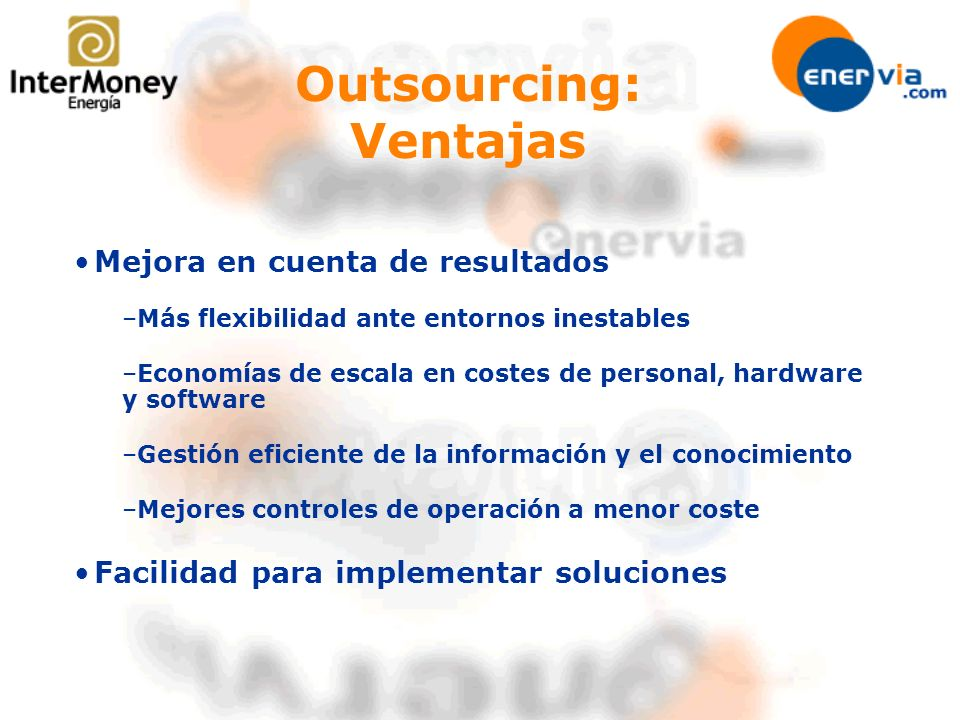 Outsourcing: Ventajas