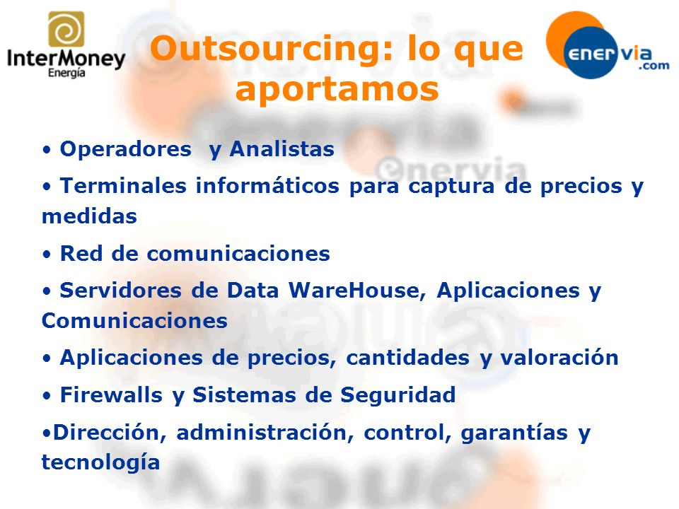Outsourcing: lo que aportamos