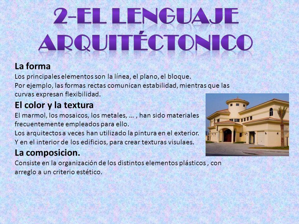 2-El LENGUAJE ARQUITÉCTONICO