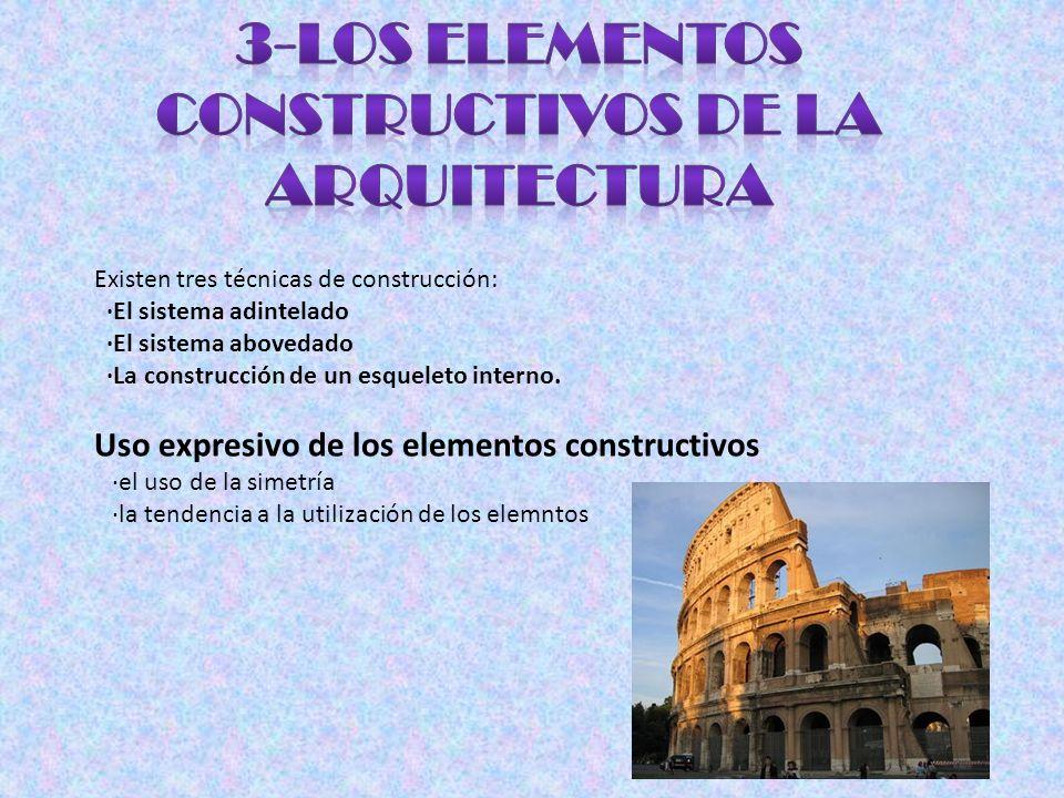 3-Los elementos constructivos de la arquitectura