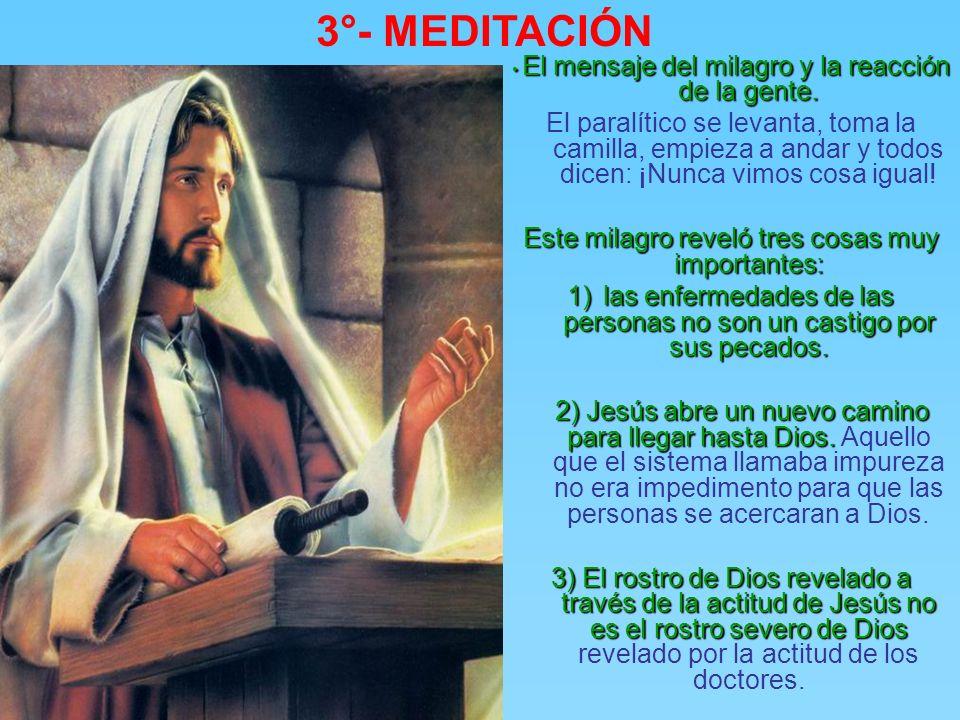3°- MEDITACIÓN • El mensaje del milagro y la reacción de la gente.