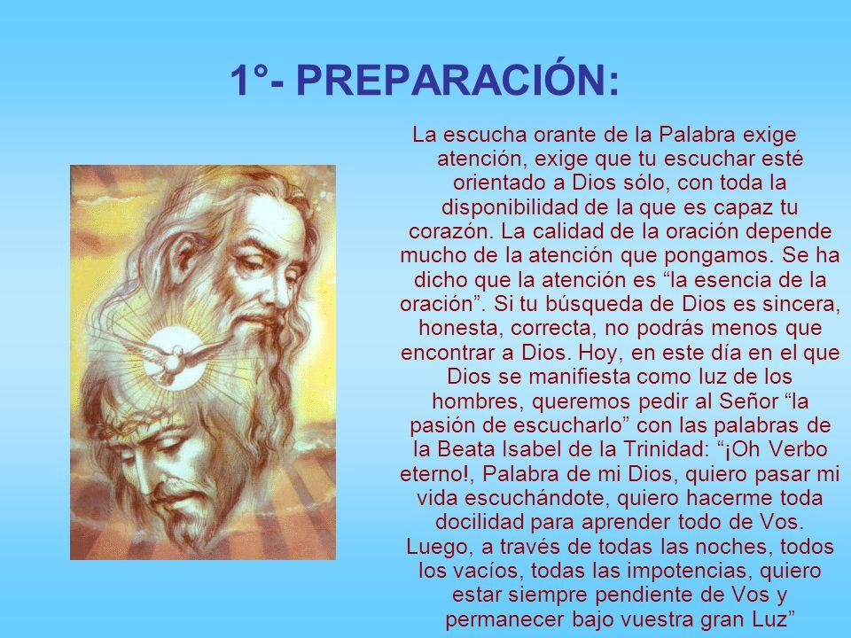 1°- PREPARACIÓN: