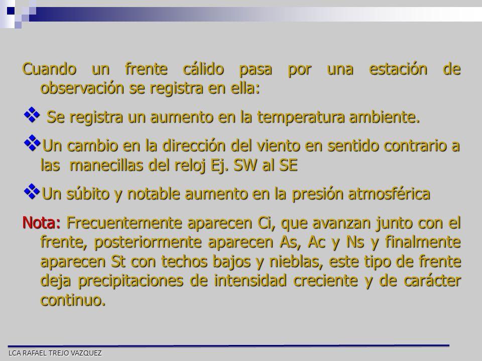 Se registra un aumento en la temperatura ambiente.