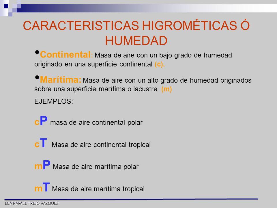 CARACTERISTICAS HIGROMÉTICAS Ó HUMEDAD