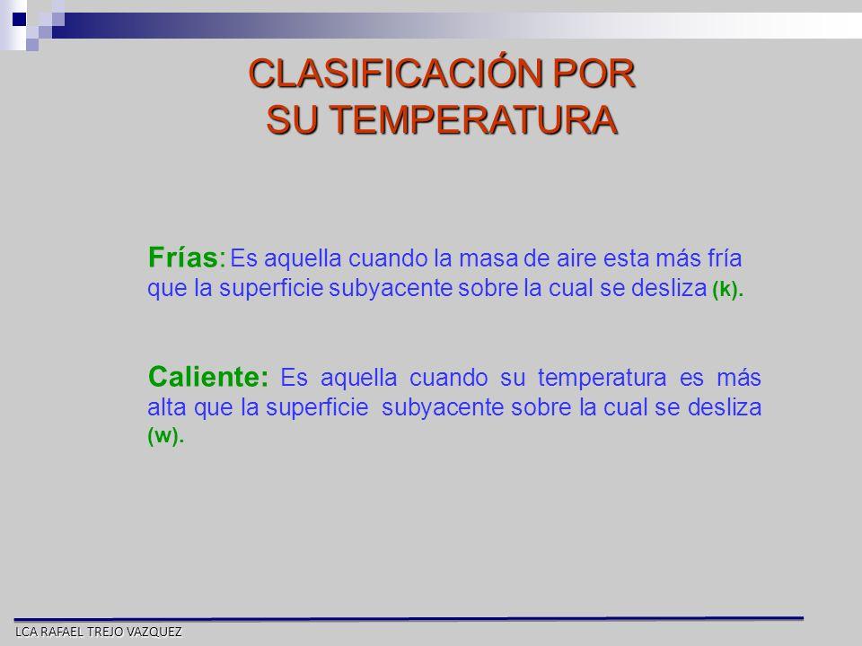 CLASIFICACIÓN POR SU TEMPERATURA