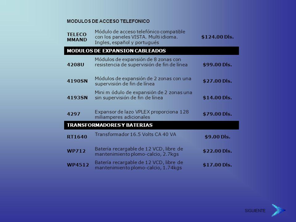 MODULOS DE ACCESO TELEFONICO TELECOMMAND