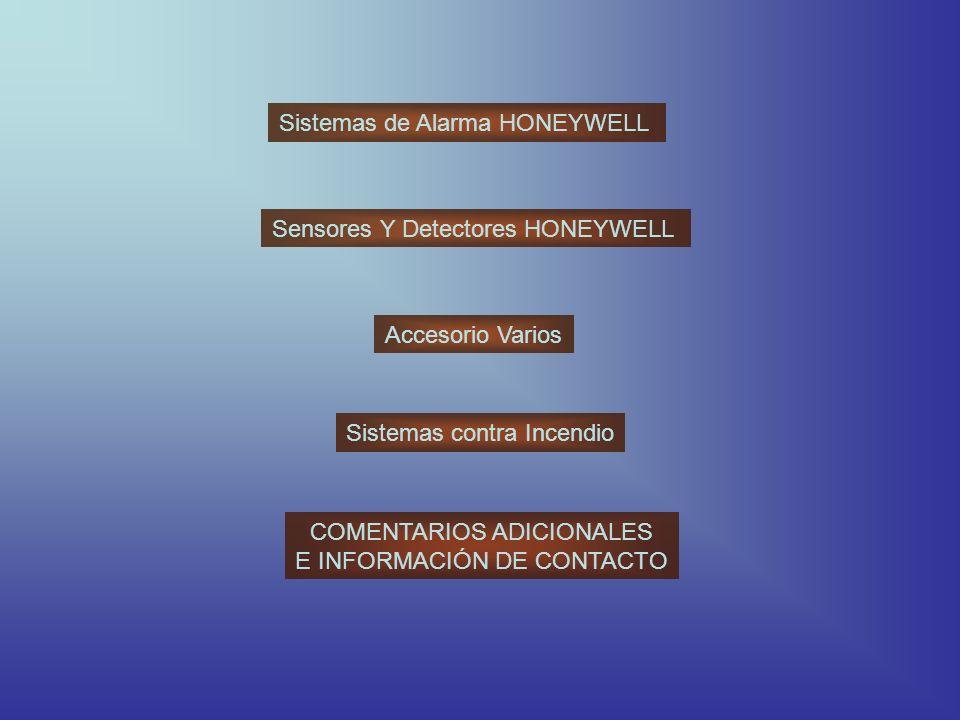 Sistemas de Alarma HONEYWELL
