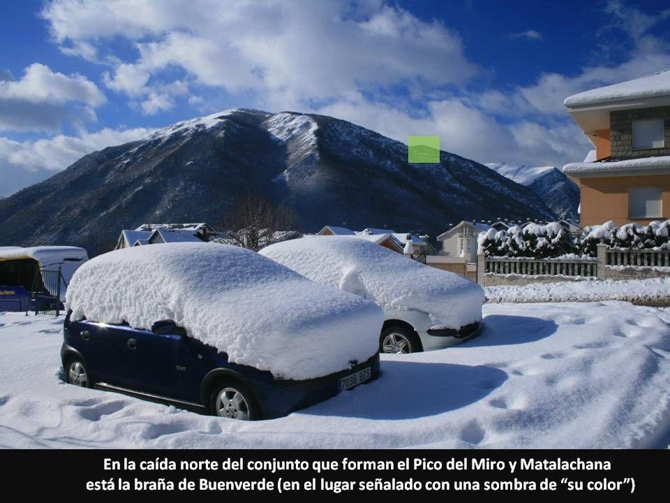 En la caída norte del conjunto que forman el Pico del Miro y Matalachana