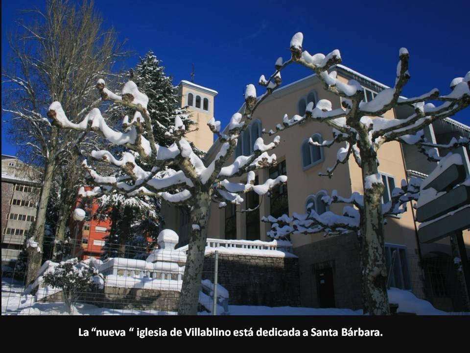 La nueva iglesia de Villablino está dedicada a Santa Bárbara.
