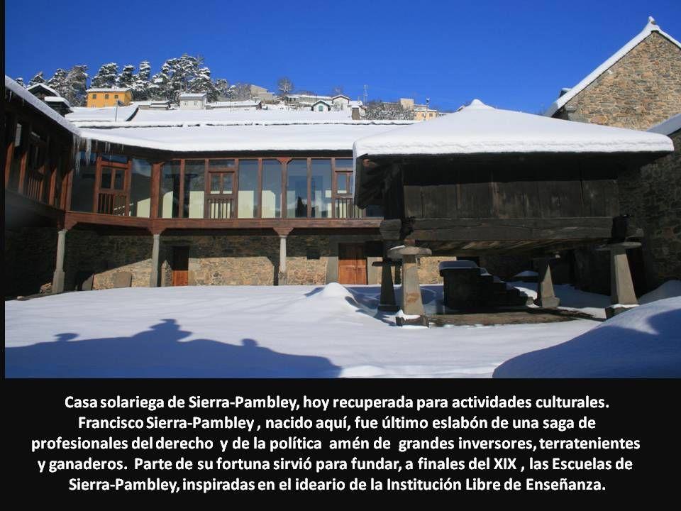 Casa solariega de Sierra-Pambley, hoy recuperada para actividades culturales.