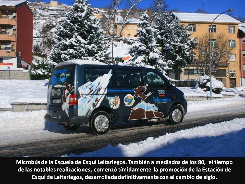 Microbús de la Escuela de Esquí Leitariegos