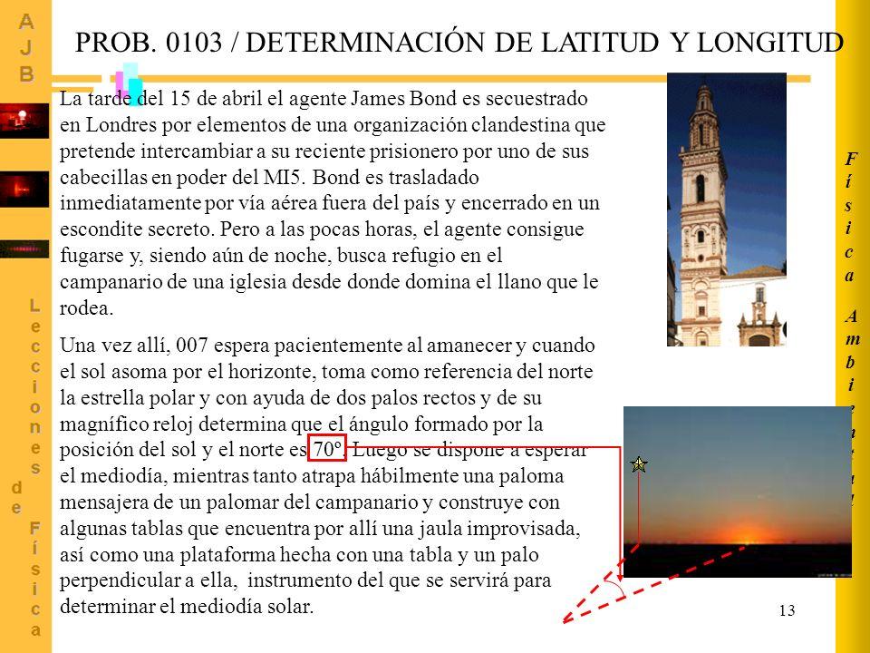 PROB. 0103 / DETERMINACIÓN DE LATITUD Y LONGITUD