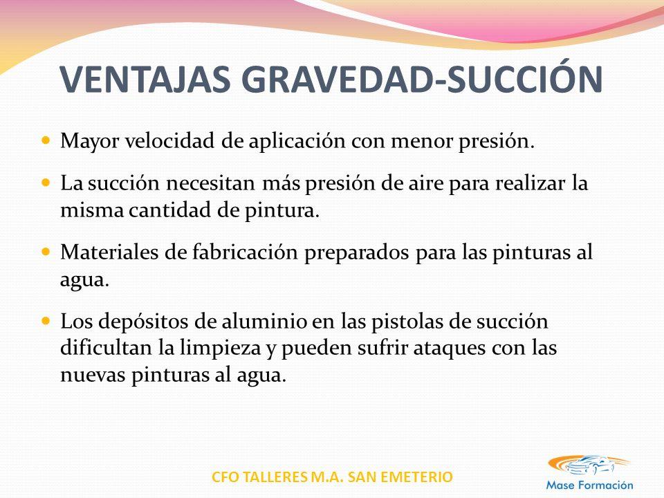 VENTAJAS GRAVEDAD-SUCCIÓN