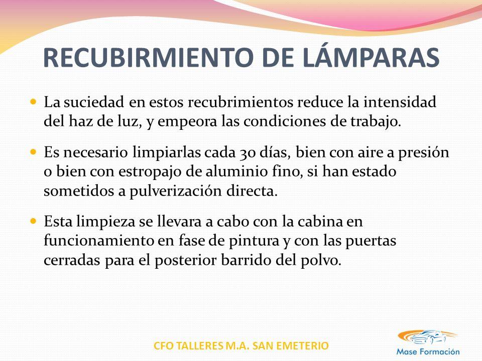 RECUBIRMIENTO DE LÁMPARAS
