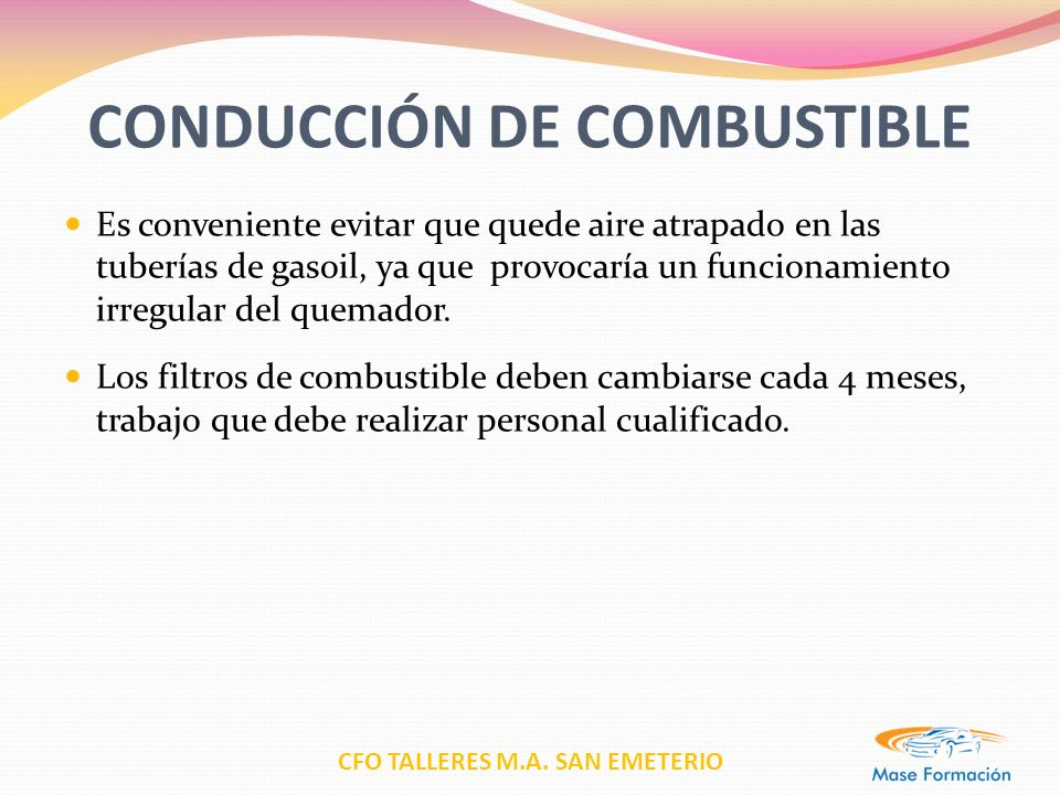 CONDUCCIÓN DE COMBUSTIBLE