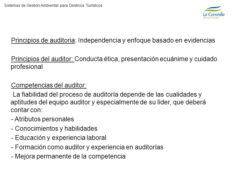 Principios de auditoria: Independencia y enfoque basado en evidencias