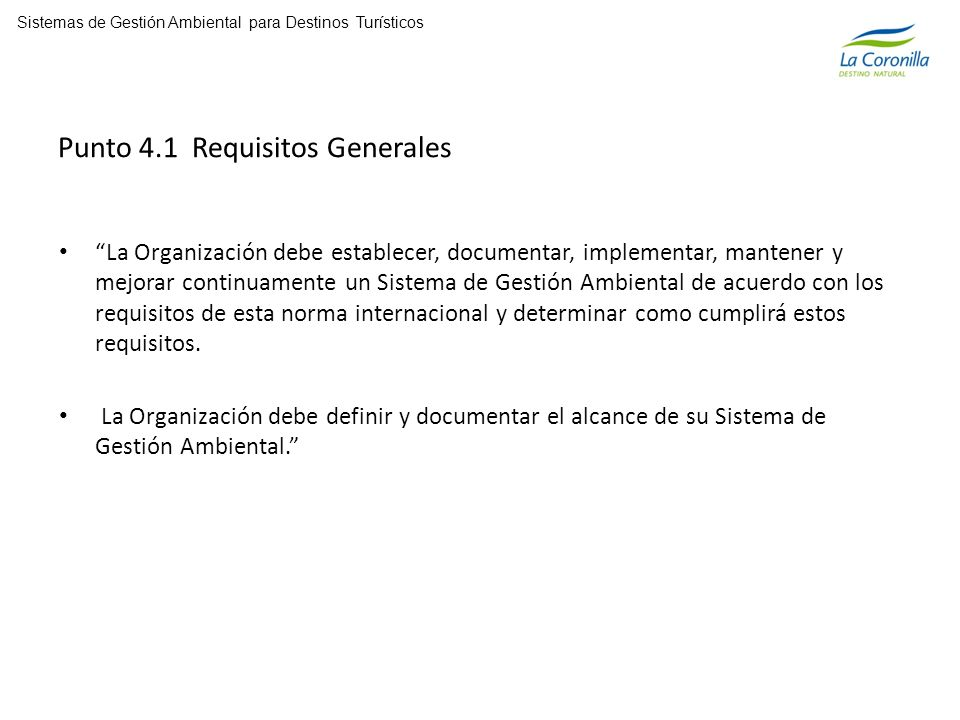 Punto 4.1 Requisitos Generales