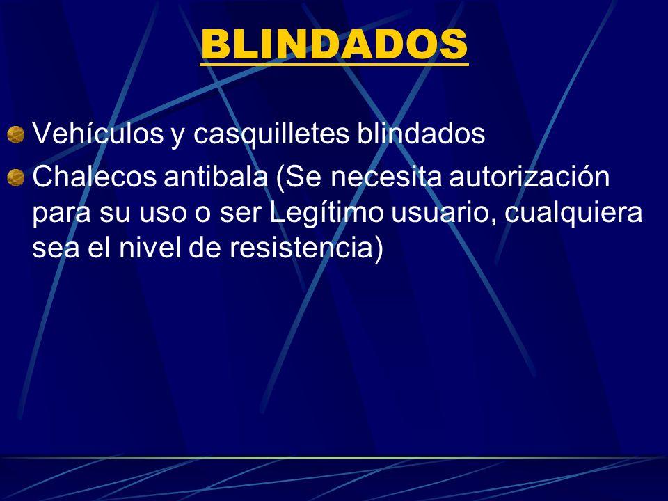 BLINDADOS Vehículos y casquilletes blindados
