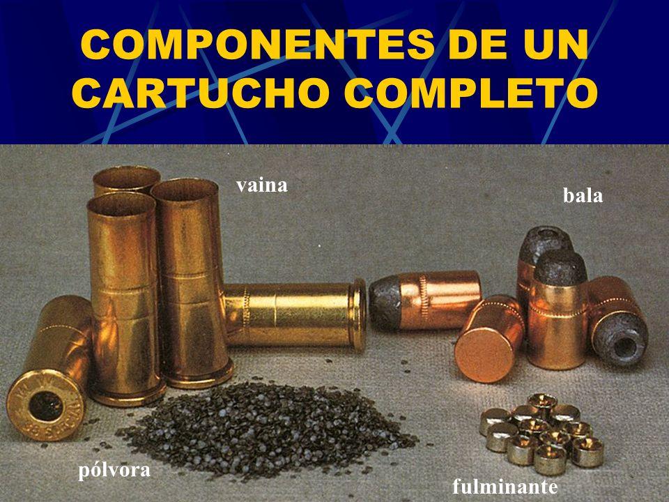COMPONENTES DE UN CARTUCHO COMPLETO
