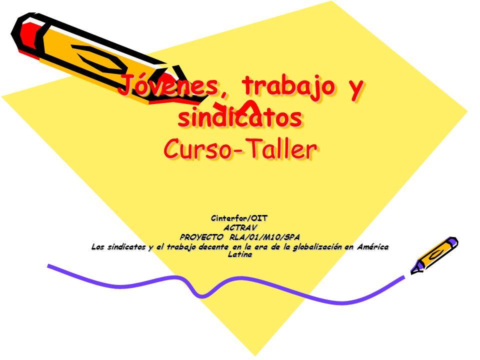 Jóvenes, trabajo y sindicatos Curso-Taller