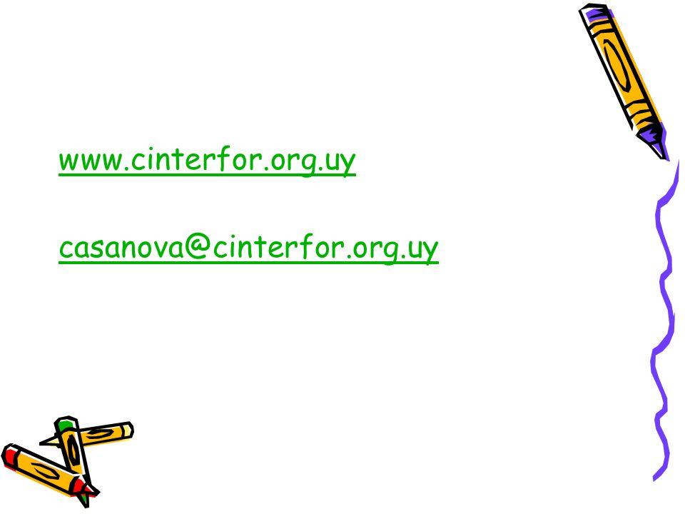 www.cinterfor.org.uy casanova@cinterfor.org.uy