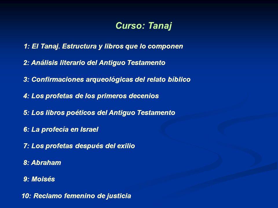 Curso: Tanaj 2: Análisis literario del Antiguo Testamento