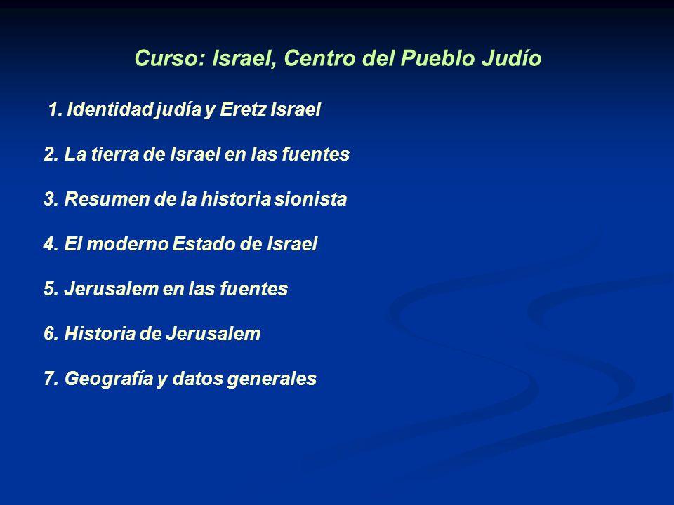 Curso: Israel, Centro del Pueblo Judío