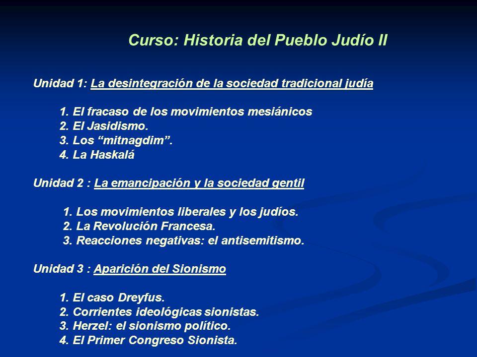 Curso: Historia del Pueblo Judío II