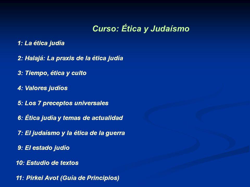 Curso: Ética y Judaísmo