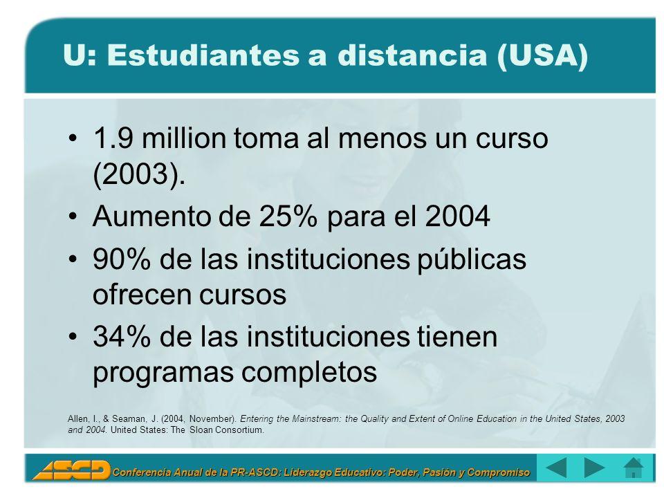 U: Estudiantes a distancia (USA)