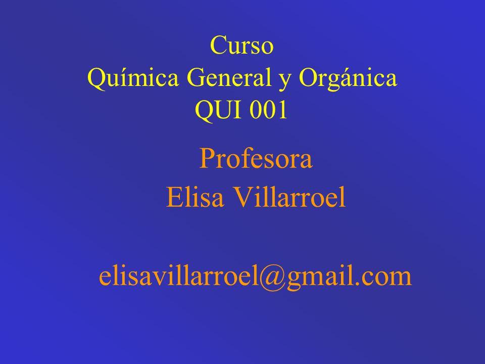 Curso Química General y Orgánica QUI 001