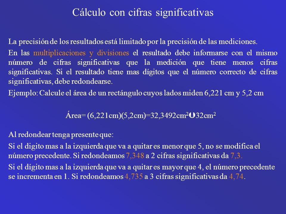 Cálculo con cifras significativas