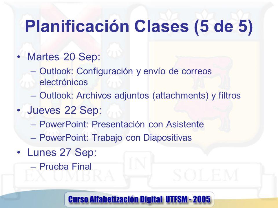 Planificación Clases (5 de 5)