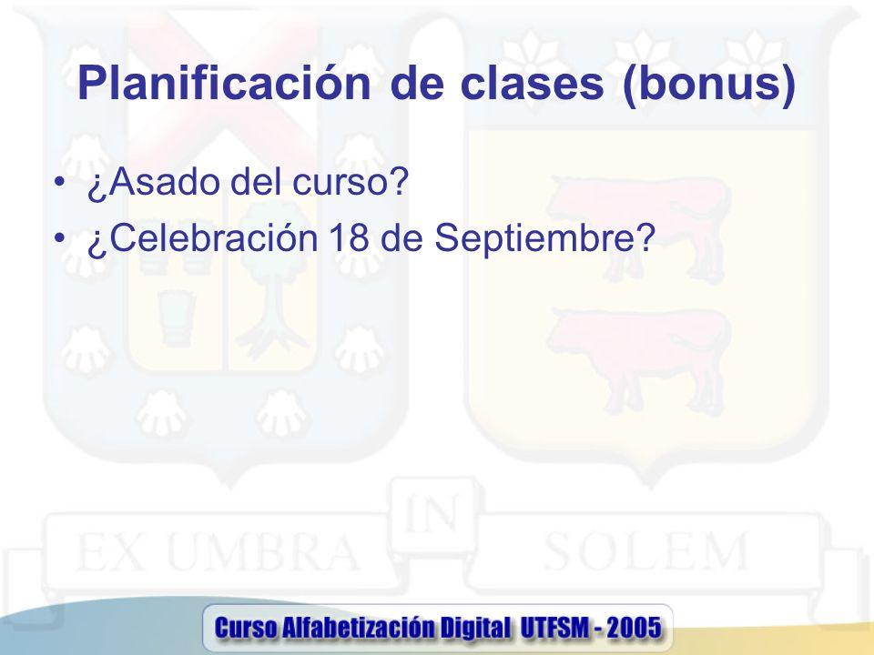 Planificación de clases (bonus)