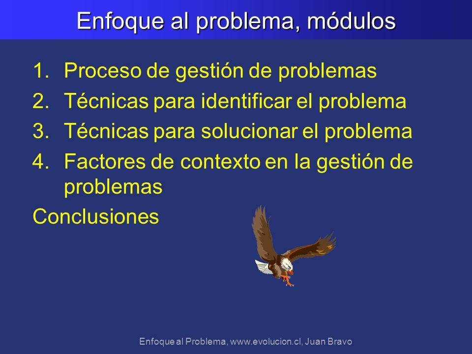 Enfoque al problema, módulos