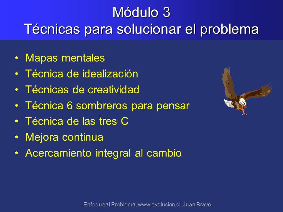 Módulo 3 Técnicas para solucionar el problema