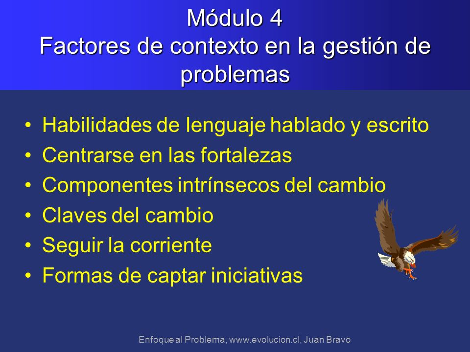 Módulo 4 Factores de contexto en la gestión de problemas