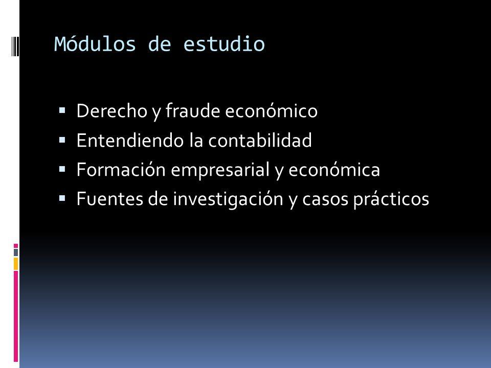 Módulos de estudio Derecho y fraude económico