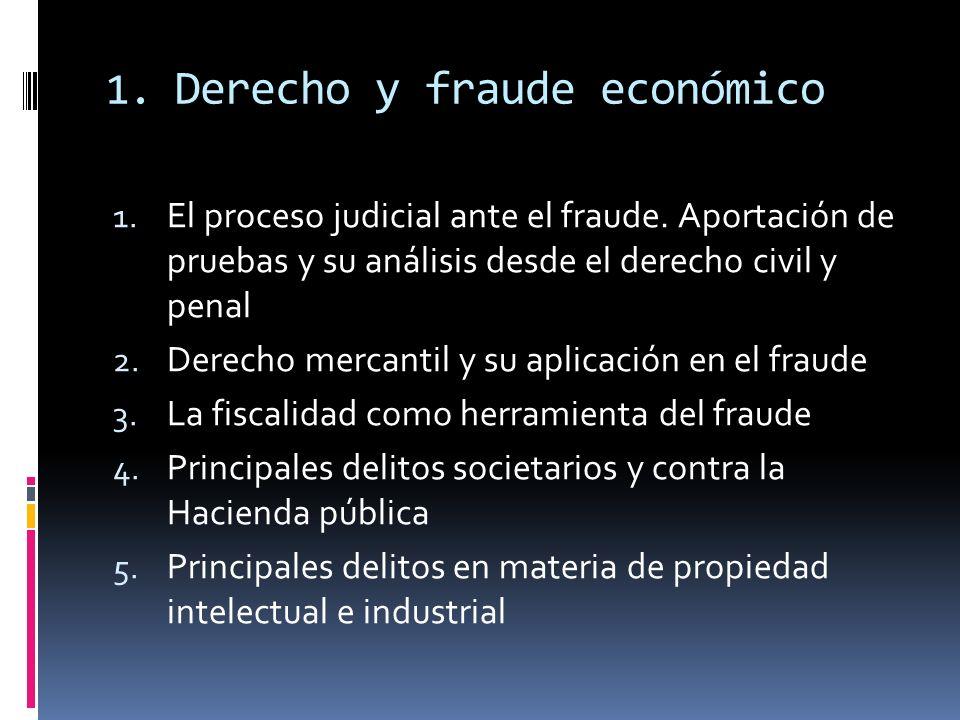 1. Derecho y fraude económico