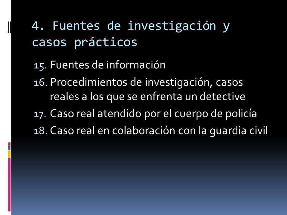 4. Fuentes de investigación y casos prácticos