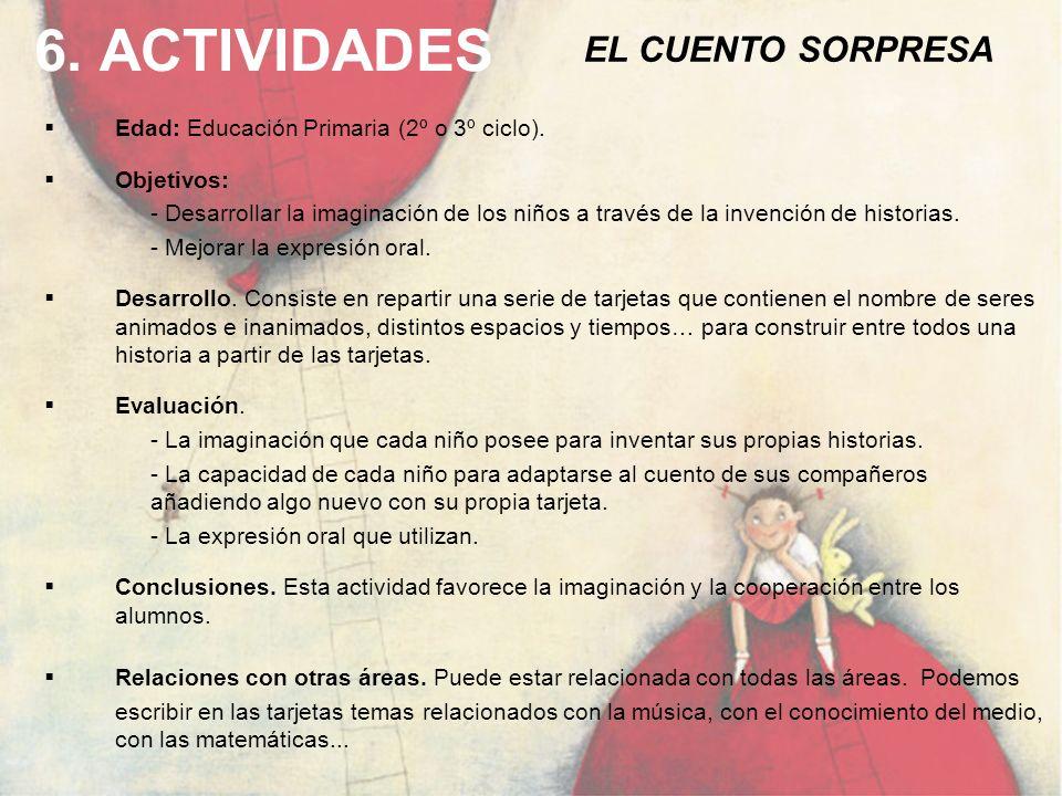 6. ACTIVIDADES EL CUENTO SORPRESA