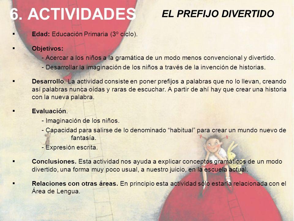 6. ACTIVIDADES EL PREFIJO DIVERTIDO
